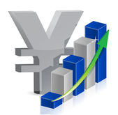 Yen currency icon style — Stock Photo