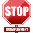 Traffic sign stop unemployment — Stock Photo #19251177