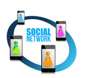 On social network concept — Stock Photo