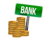 Saving money concept bank coins — Stock Photo