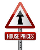 'house prices rise' sign — Stock Photo