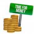 Time for money coins — Stock Photo