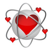 Atomic love concept — Stock Photo