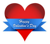 Red Glossy Heart Valentines day — Stock Photo