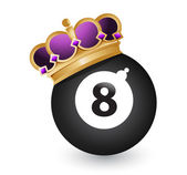 Eight ball with a crown — Stock Photo