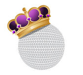 Golf ball with a crown — Stock Photo