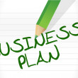 BUSINESS PLAN text — Stock Photo