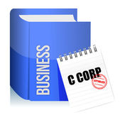Approved stamp on a C corporation legal document — Stock Photo