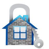 Demostrando seguridad en el hogar — Foto de Stock