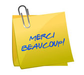 Merci Beaucoup! Sticky note — Stock Photo