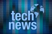 Tech News on digital background — Stock Photo