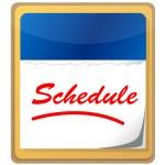 kalendář s slovo plán — Stock fotografie
