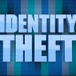 Identity theft binary concept in word - Stock Photo