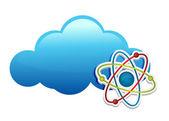 Pensando em nuvem química — Foto Stock