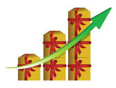 Gift graphic business graph — Stock Photo