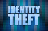 Identity theft binary concept in word — Stock Photo
