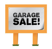 Garage sale sign — Stock Photo
