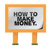 How to make money on a wood sign — Stock Photo