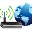 Wireless communication and internet concept - Stock Photo