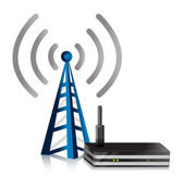 Wireless Router tower — Stock Photo