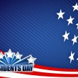Presidents day red white and blue — Stock Photo