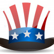 US Top Hat Uncle Sam — Stock Photo
