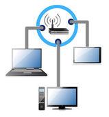 Wifi network concept — Stock Photo