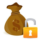 Unlock Full sack — Stock Photo