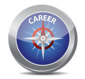 Career the way indicated by compass — Stock Photo