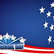 Memorial day red white and blue illustration - Foto de Stock
