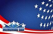 Día de los caídos rojo blanco y azul ilustración — Foto de Stock