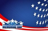 Memorial day red white and blue illustration — Stock Photo