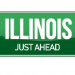 Illinois Road Sign — Stok fotoğraf