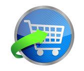 Shopping cart symbol — Stock Photo