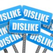 Dislike Social media networking concept — Stock Photo