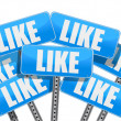 Stok fotoğraf: Like Social media networking concept