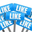 Stockfoto: Like Social media networking concept