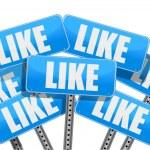 comme concept de réseautage social media — Photo
