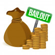 Bailout. Money bag sign — Stock Photo