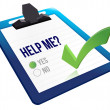 Help me? yes check boxes — Stock Photo