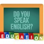 """Do you speak English?"" board — Stock Photo"