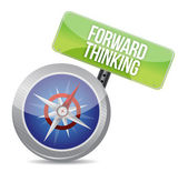 Forward Thinking compass — Stock Photo