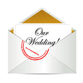Our wedding mail invite — Stock Photo