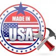 Made in usa tools button seal illustration - Zdjęcie stockowe