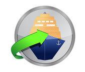 Ship cruise button — Stock Photo