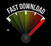 Fast download speedometer — Stock Photo