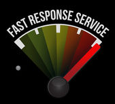 Fast response service speedometer — Stock Photo