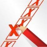 Illustration design of x mark — Stock Photo #20242133
