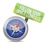 Follow Your Inner Compass success road — Stock Photo