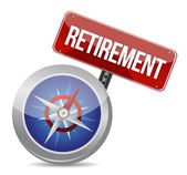 Retirement Plan and Compass, business concept — Stock Photo